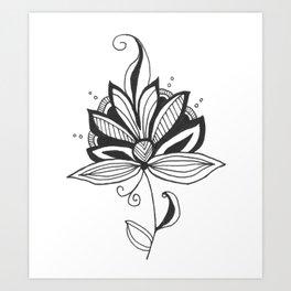 Solitary Flower Art Print