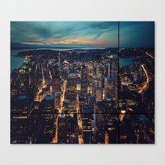 Skyscrapes-City View Canvas Print