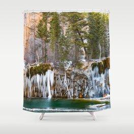 Hanging Lake Winter Shower Curtain