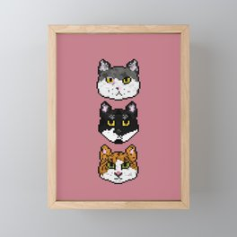 Pixel Cats Framed Mini Art Print