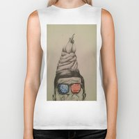 jfk Biker Tanks featuring JFK Sundae by Hannah McKee