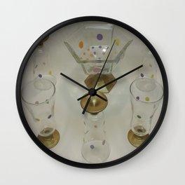 Hand-painted Glass Parfait Set  Wall Clock