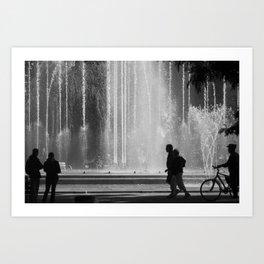 Fountain. Art Print