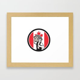Canadian House Removal Canada Flag Icon Framed Art Print
