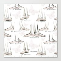 ballet Canvas Prints featuring Ballet by Moira Birch Swiatkowski