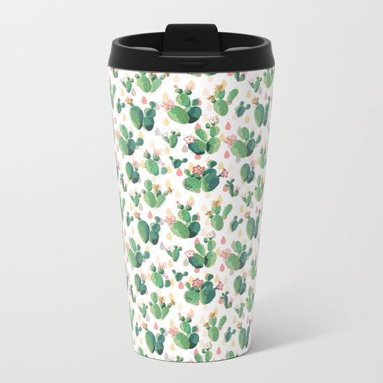 Cactus Drops Metal Travel Mug