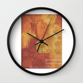 A Vase Oh Yeah and Flowers Wall Clock