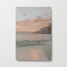 summer beach sunset Metal Print