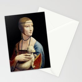 The Lady with an Ermine - Leonardo da Vinci Stationery Cards