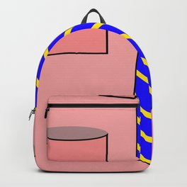 Pink shirt and tie Backpack