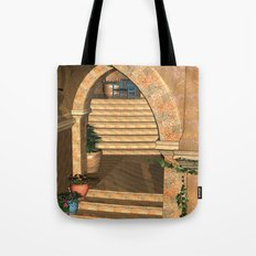 Old Town Stairs and Arches Tote Bag