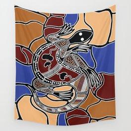Aboriginal Art - Goanna (lizard) Dreaming Wall Tapestry