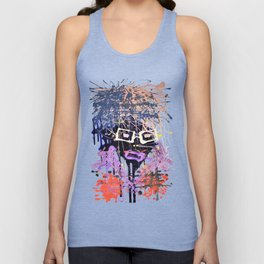 abstract people, modern art, abstract painting, cool abstract, abstract man Unisex Tank Top