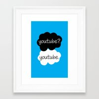 youtube Framed Art Prints featuring YouTube? by samonstage_lyrics