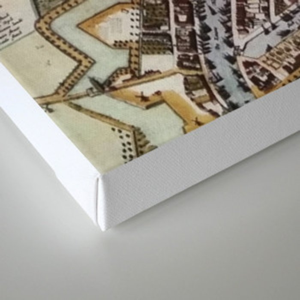 Replica city map of Rotterdam 1652 Canvas Print