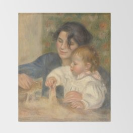 Gabrielle Renard and infant son, Jean Throw Blanket
