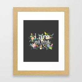 Jane Eyre - I Am No Bird Framed Art Print