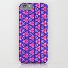 Vibrant neon saturated pattern iPhone Case