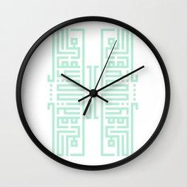 Arabic Square Kufi (ادلع ياكايدهم) Wall Clock