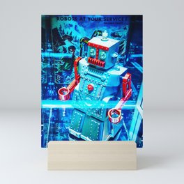 Retro Robot 2 Mini Art Print