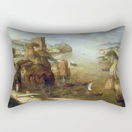 Pieter Brueghel the Elder - Christ and Apostles at the Sea of Galilee Rectangular Pillow