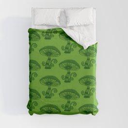 """Mushrooms in the Garden"" Wonderland Style Design by Dark Decors Duvet Cover"