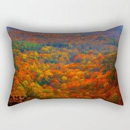 Amicalola Autumn in the Blue Ridge Mountains Rectangular Pillow