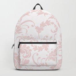 Vintage blush pink elegant floral damask Backpack
