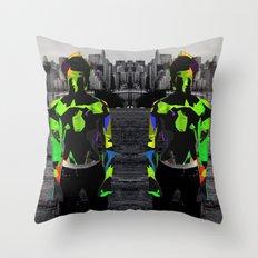 Boy Urban Throw Pillow