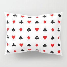 Playing cards pattern Pillow Sham