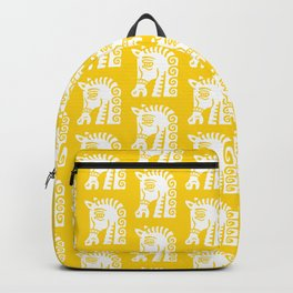 Mid Century Horse Pattern Yellow Backpack