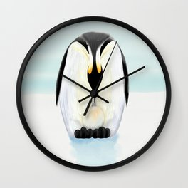 Penguin Dad and his Egg Wall Clock