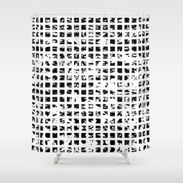 Controlled Randomness Shower Curtain