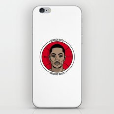 Derrick Rose Badge Illustration iPhone & iPod Skin