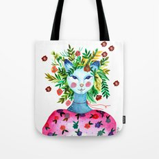 Miss Lady Cat Tote Bag