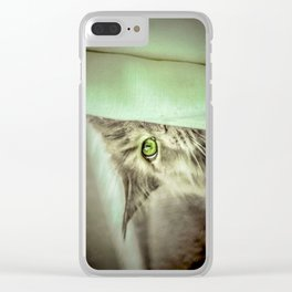 Small brother is watching you Clear iPhone Case