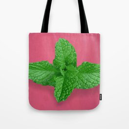 Mint on Pink Tote Bag