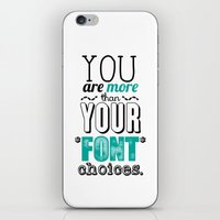 font iPhone & iPod Skins featuring Font Choices by Emily Young Design