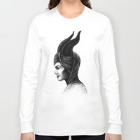 maleficent Long Sleeve T-shirts featuring Maleficent  by Denda Reloaded