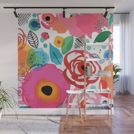 Abstract Floret Wall Mural