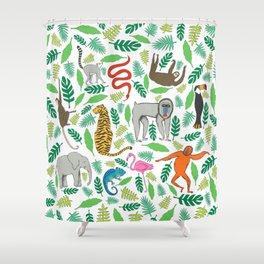0a8388a87de9 Animals in the Jungle Shower Curtain