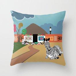 Ndebele Inspiration Vibes I Throw Pillow