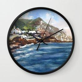 Sitges Beach, Spain Wall Clock