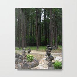 Stacking Rocks Metal Print