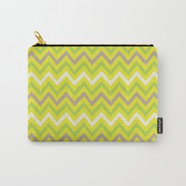 lime-brown chevron Carry-All Pouch