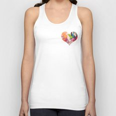 Deco Heart Unisex Tank Top