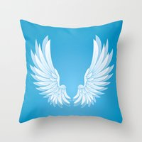 wings Throw Pillows featuring wings by Li-Bro