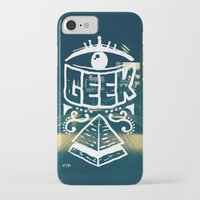 geek iPhone & iPod Cases featuring GEEK by YTRKMR