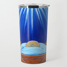 Christmas Baby Jesus in Manger with North Star Travel Mug