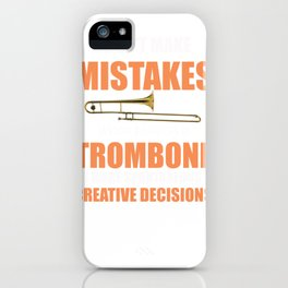 Funny Trombone Music Instrument Trombonist design iPhone Case